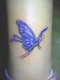 fly wherever you want girly tattoos blue