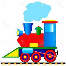 unique steam lo otive on white background stock vector train