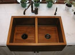 teak double kitchen sink sinks gallery