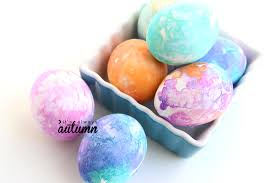 tissue paper easter eggs so easy it u0027s always autumn