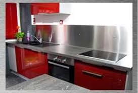 plan de travail cuisine inox sur mesure cuisine inox sur mesure great meuble cuisine inox occasion