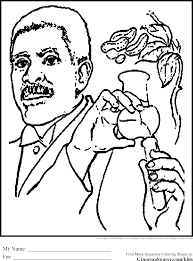 george washington carver coloring page eson me