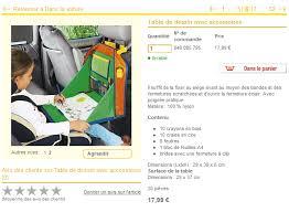 tablette pour siege auto table de jeu pour siège auto