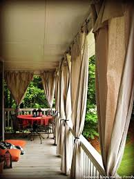Outdoor Canvas Curtains Porch Curtains Outdoor Teawing Co