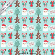 merry christmas pattern vector free download