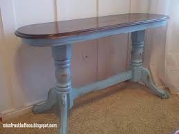 Distressed Sofa Table by Miss Freckled Face Distressed Aqua Blue Sofa Table 65 Sold