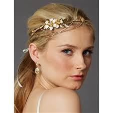 floral headband enameled floral headband crown with preciosa drapes