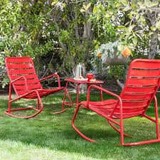 Metal Rocking Patio Chairs Metal Outdoor Rocking Chairs Oknws Contemporary With Regard To