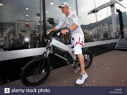 mercedes bicycle german formula one driver michael schumacher of mercedes gp drives