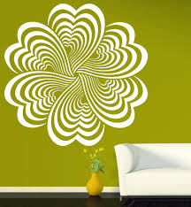 Elements Home Decor by Drawing Elements Flower Optical Illusion Vinyl Wall Sticker Home