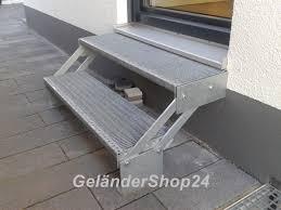 stufen treppe treppe mit 2 stufen für höhen bis 40 cm geländershop24