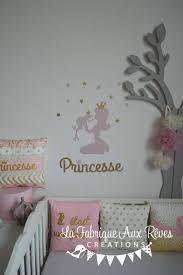 d orer la chambre de b stickers princesse grenouille doré décoration chambre bébé