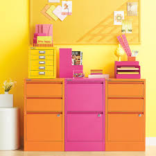 Three Drawer Vertical File Cabinet by Bisley Orange 2 U0026 3 Drawer Locking Filing Cabinets The