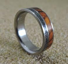 ironwood ring etsy titanium ring meteorite wood ironwood mens womens wedding band handmade engraved personalized