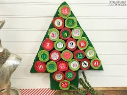 diy tree advent calendar tutorial using paper towel rolls