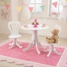 kidkraft round table and 2 chair set kidkraft round storage table chair set white pink 26165
