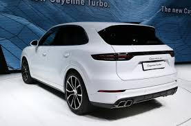 new porsche electric 2018 porsche cayenne turbo revealed at frankfurt motor show