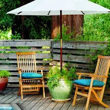 Diy Patio Umbrella Stand Diy Outdoor Umbrella Stand It Made In The Shade