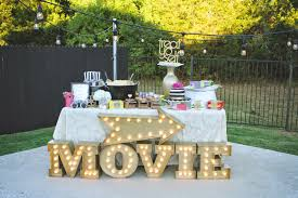 Backyard Sweet 16 Party Ideas Pb J Movie Night Under The Stars 30th Birthday Celebration