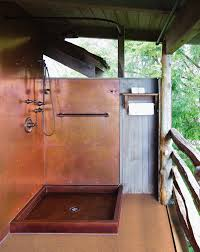 Copper Walls Count On Copper Copper Wall Shower Pan And Walls