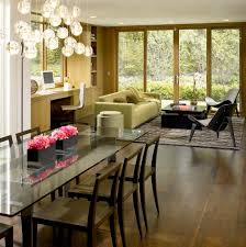 glass dining tables room contemporary with transom windows miami
