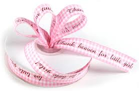 gingham ribbon thank heaven for pink gingham ribbon it s a girl
