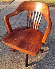 Milwaukee Chair Company Oak Swivel Chair Ebay