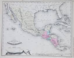 Central Mexico Map by Map Of Mexico And Central America 1865