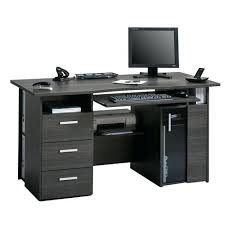 Workstation Computer Desk Atua Wood Computer Workstation In Mahogany Capius Oak Grey