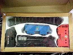 vintage battery operated freight set berg sales