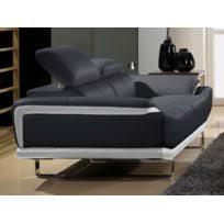 canapé cuir noir 2 places la maison du canapé canapé cuir 3 places angie noir 216cm x 88cm