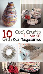 creative crafts to make with old magazines crafting creative