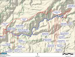 map of american middle fork american river map