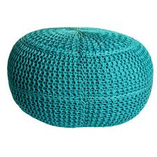 Wilko Garden Furniture All Weather Woven Foot Stool Green Foot Stools Stools And