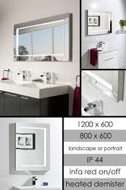 Bathroom Heated Mirror Chic Heated Bathroom Mirror With Sensor Lights