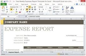 Excel Expense Report Template Free Free Weekly Expenses Report Template For Excel