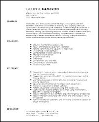 Entry Level Resume Builder Free Entry Level Maintenance Technician Resume Template Resumenow