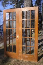 Salvaged French Doors - nice set of antique double french doors 48 x 95 architectural