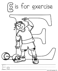 fitness themed coloring pages in exercise printable eson me