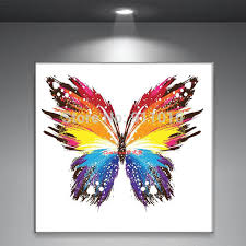 handmade abstract butterfly picture home decor painting on