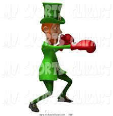 sports clip art of a 3d leprechaun boxing by julos 2881