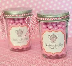 tea party bridal shower favors tea party personalized mini jars