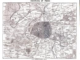 Paris France Map by