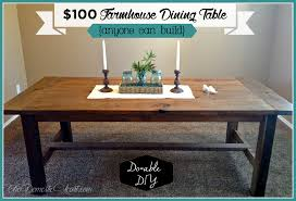 easy diy farmhouse table diy farmhouse table cost in howling gallery in diy kitchen table