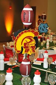 football centerpieces football theme bar mitzvah ideas it up