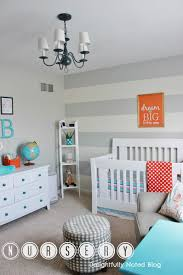 finally our baby boy u0027s aqua orange u0026 grey nursery reveal