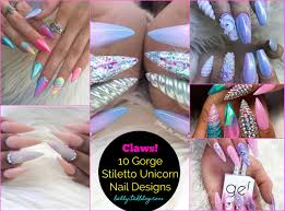 10 great unicorn stiletto nails to get today