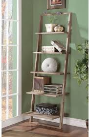 Leaning Bookcase Woodworking Plans by Ladder Shelf Bookcase Storage Wood Home Rack Leaning Bookshelf