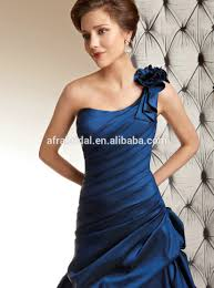 sd1170 one shoulder wedding dresses royal blue color satin royal