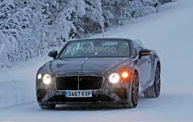 bentley continental bentley continental gtc braves cold weather testing with its top
